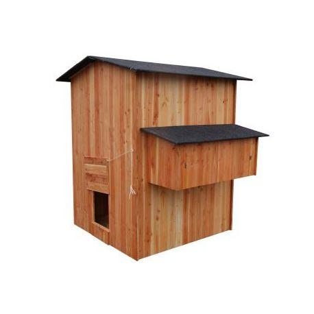 grand poulailler bois pour 6 20 poules palace. Black Bedroom Furniture Sets. Home Design Ideas