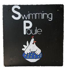 Ardoise décorative Swimming Poule