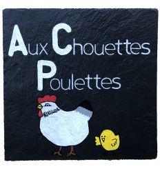Ardoise décorative Aux chouettes poulettes