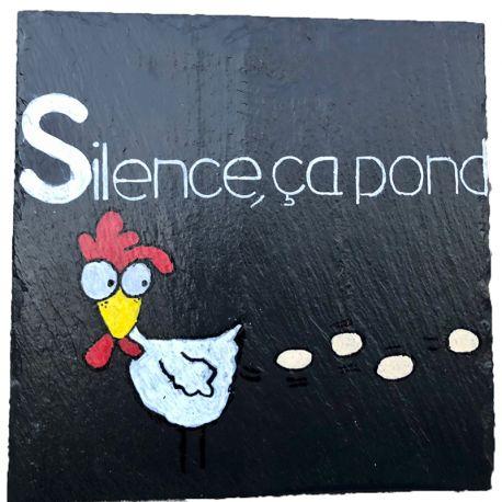 Ardoise décorative Silence ça pond